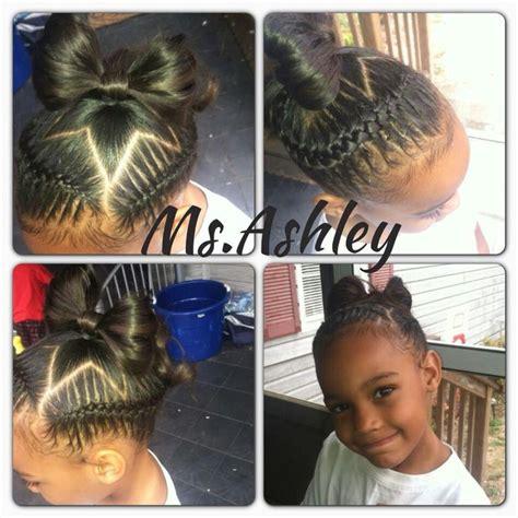 little braids under hair cute kids under braid out with a star baby hair