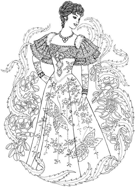 coloring pages for adults fashion creative haven art nouveau fashions coloring book welcome