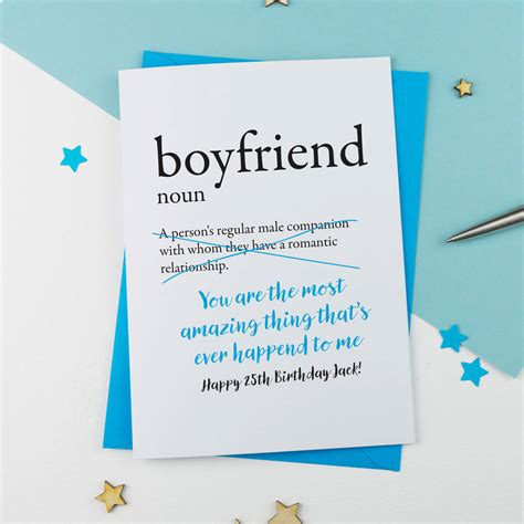 What To Write In New Boyfriends Birthday Card