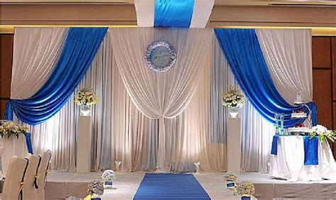 Coupons For Home Decorators 3m 6m white blue wedding backdrop curtain swag stage