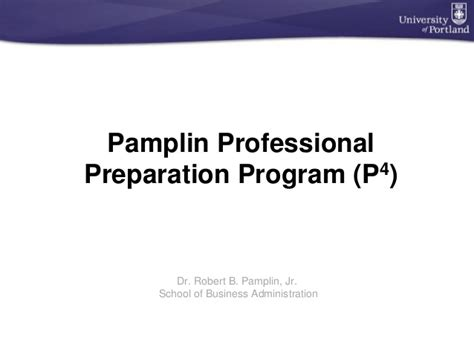 Professional Preparation Mba plin professional preparation program p4