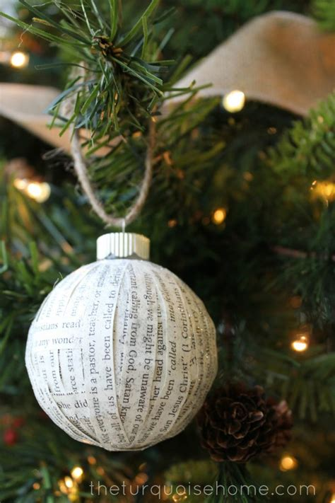 Handmade Paper Ornaments - tree ornaments to make with your