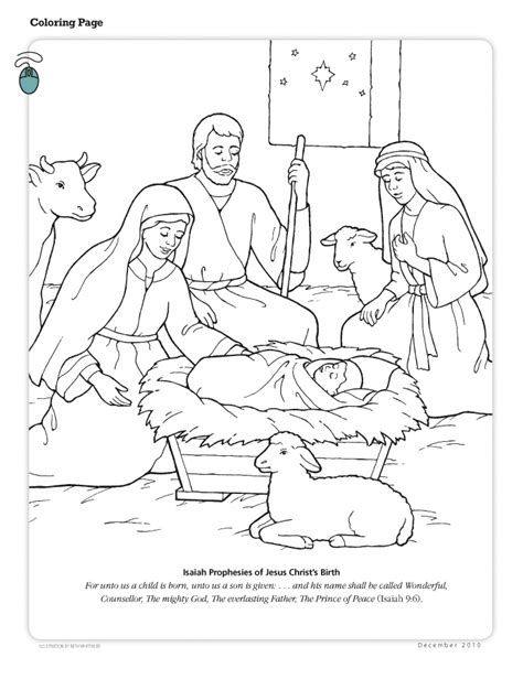 Lds Nativity Coloring Pages Printable | happy clean living primary 3 lesson 47 christmas