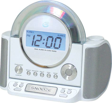 gpx alarm clock with cd player digital am fm stereo tvs electronics portable audio