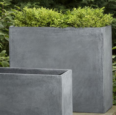 large concrete planter large planters big pots and extra large plant containers
