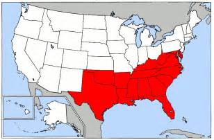 Map Of The South Of Usa by Southern Usa Map