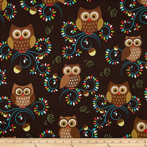 Owl Quilting Fabric by Michael Miller Woods Discount Designer Fabric