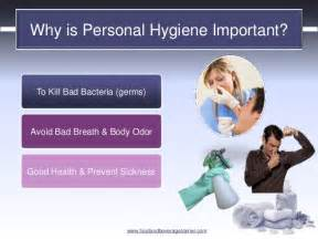 health and safety personal hygiene grooming