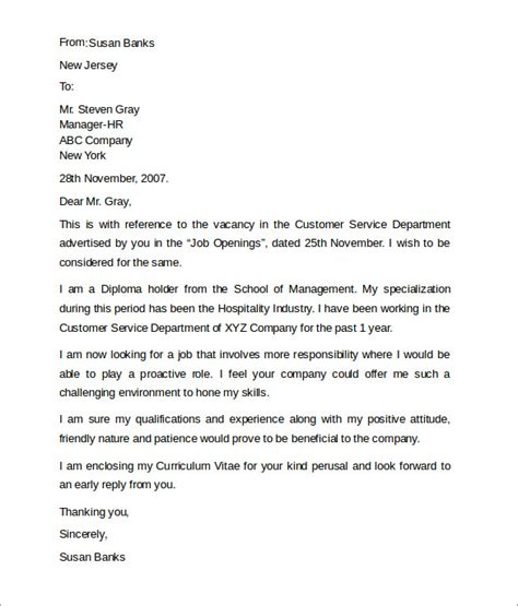 free cover letter exles for customer service customer service cover letters 8 free