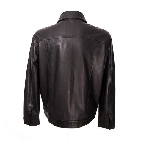 Jaket Parka 9 Pocket Black button up patch pocket leather jacket black s