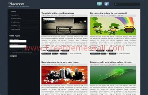drupal themes magazine free abstract blurry magazine drupal 7 theme download