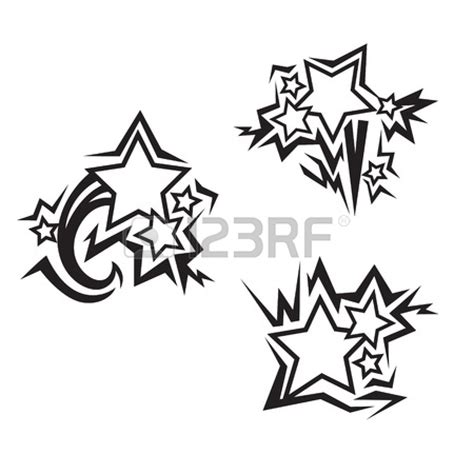 tribal with stars tattoo images designs
