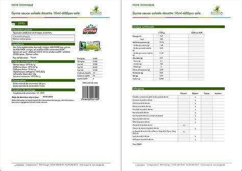 les documents dans le secteur de l alimentaire