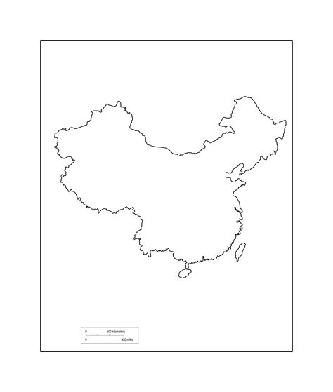 Great Wall Of China Map Outline by Blank Map China Chinaprovince Map 点力图库