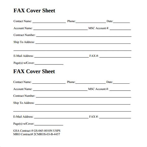 printable fax cover sheet sle generic fax cover sheet 13 documents in pdf word