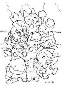 pokemon characters anime coloring pages kids printable free