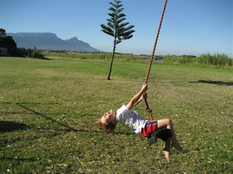 child rope swing make an old fashioned tree swing