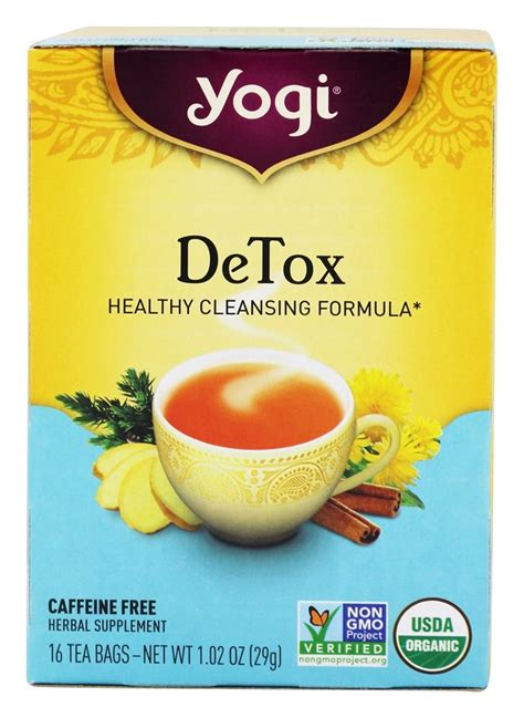 Yogi Detox Tea Caffeine by Buy Yogi Tea Detox Organic Caffeine Free 16 Tea Bags