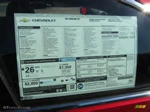 chevy vin window sticker autos post