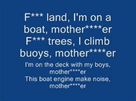 on a boat clean i m on a boat lyrics clean youtube