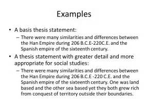 Exle Of A Thesis Statement For An Essay by Exles Of Thesis Statements Obfuscata