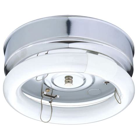 Ceiling Light Fluorescent Lithonia Lighting 1 Light Chrome Fluorescent Bare L Ceiling Flushmount Fm22 Blch M4 The