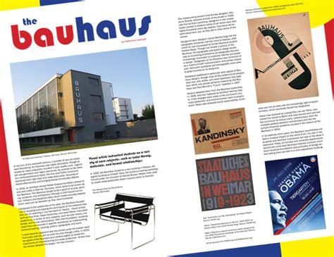 Bauhaus Home bauhaus magazine spread katherine leonard