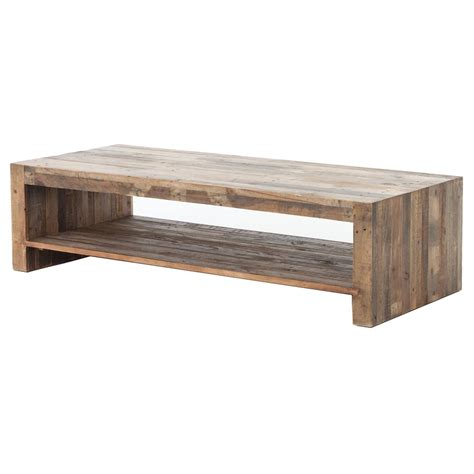 modern rustic lodge chunky reclaimed wood rectangle