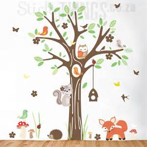 Black Bird Wall Stickers woodland forest wall art sticker stickythings co za