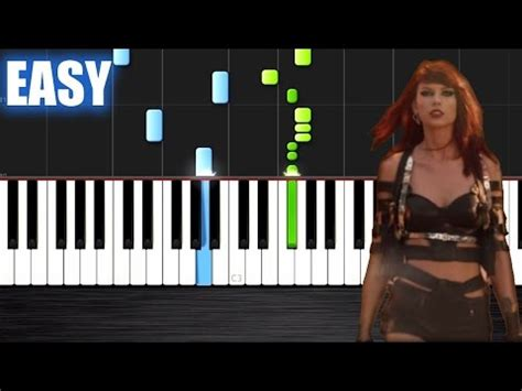 tutorial piano taylor swift taylor swift bad blood ft kendrick lamar how to pl