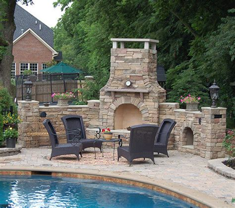 outdoor fireplace kits 30 in pre engineered arched