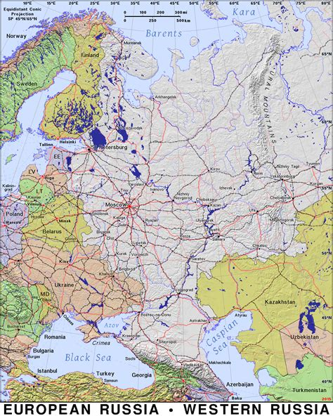 russia map european part european russia 183 domain maps by pat the free