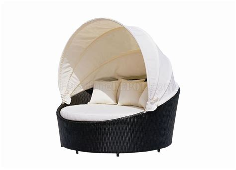 black modern outdoor canopy bed wbeige cushions