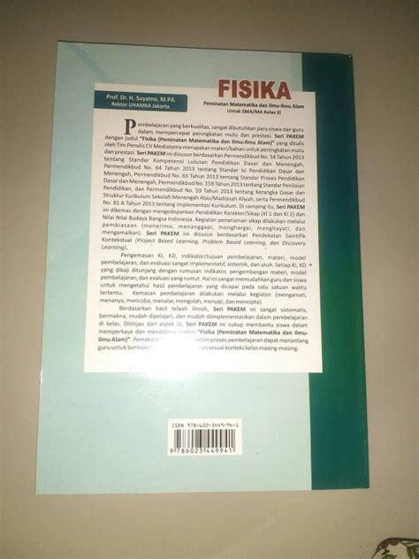 Buku Fisika Kelas Xi jual buku fisika kelas xi sma ma peminatan ipa buku