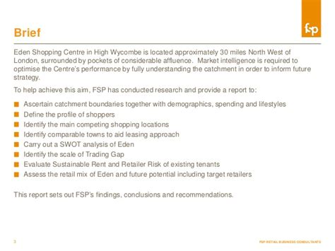Consultancy Briefformat Sle Market Intelligence Report Fsp Retail Consultancy