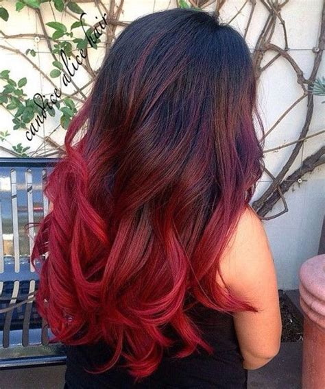 bright color ombre hairstyles so nice bright red ombre long hairstyles for girls 2016