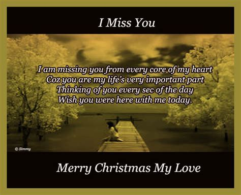 Missing You On This Christmas. Free Miss You eCards