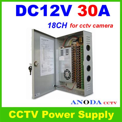 Power Supply Cctv 30a Box Power Supply 30 A Cctv 18ch dc12v 30a switching power supply box monitor power supply for 18 ports cctv cameras us315