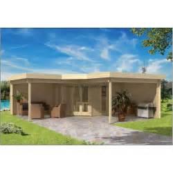 abri de jardin bois toit plat pool house jukta 36m2