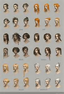 hairstyle concept art by telthona on deviantart