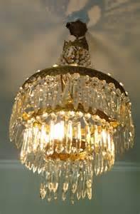 lustre cristal ancien lustre montgolfiere ancien cage en bronze dor 233 et
