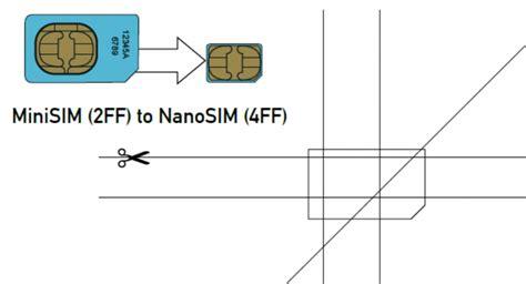 sim card template regular sim card to nano sim card images 1252 techotv