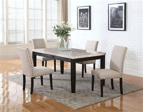 5pc faux marble dining table set 5pc faux marble top dining table chairs set sectionals