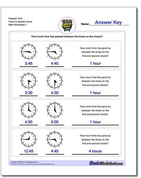 printable pdf analog elapsed time worksheets math