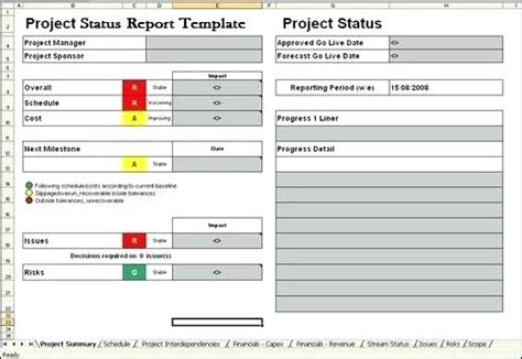 Project Status Template Excel Topbump Club Project Portfolio Template