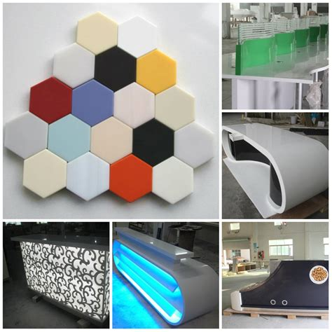 Acrylic Solid Surface free standing u shape faux solid surface acrylic