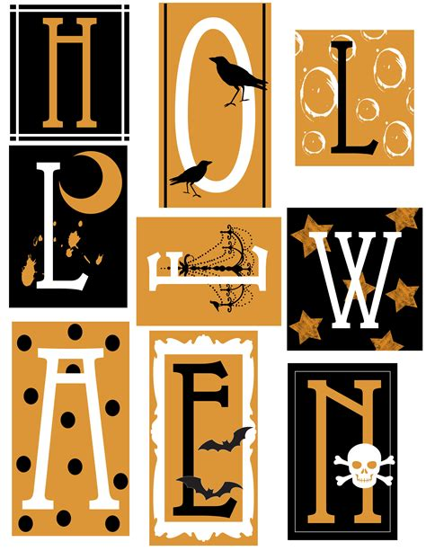 free printable halloween alphabet letters 16 halloween paper crafts decorations activities the
