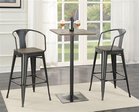 metal bar table set wood and metal bar table set coaster furniture furniture