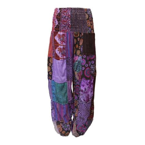 Patchwork Trousers - patchwork genie the hippy clothing co