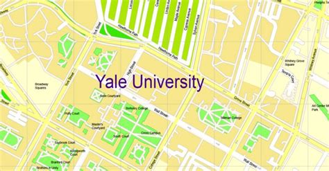 printable yale map yale university printable map new haven connecticut us